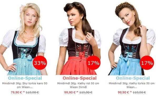 Bei Trachten-Dirndl-Shop.de findet ihr zünftig-schöne Outfits besonders günstig