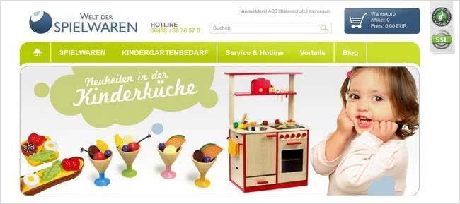 Welt der Spielwaren ist ein Online-Shop vor allem mit hochwertigem Holzspielzeug.