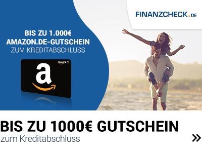 Finanzcheck.de 1000€ Amazon-Gutschein