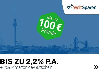 Bis zu 100€ Prämie auf Tages- oder Festgeld