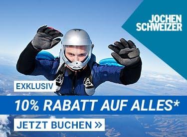 10% Rabatt aus alles bei Jochen Schweizer