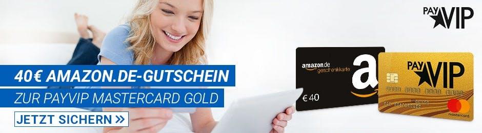 payVIP Mastercard Gold + 40€ Amazon-Guteschein