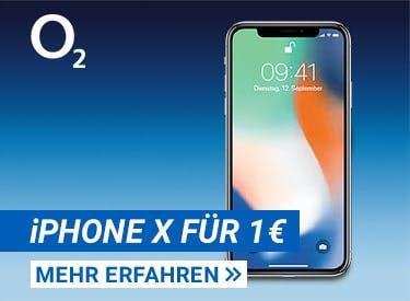iPhone X für 1€ bei o2