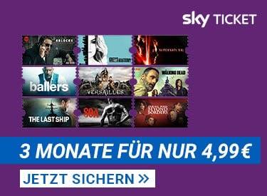 3 Monate Sky Ticket für nur 4,99€