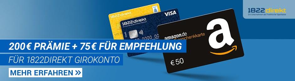 200€ + 75€ Prämie für Girokonto