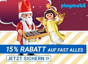 15% Rabatt bei Playmobil