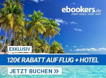 120€  Rabatt bei ebookers
