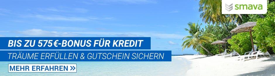 Bis zu 575€ Bonus für Kredit bei Smava