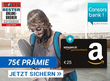 Consorsbank-75€ Prämie