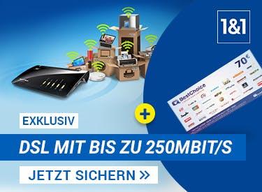 1&1 DSL-70€ Prämie sichern
