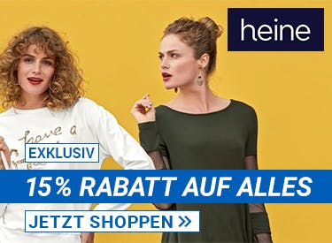 15% Rabatt bei Heine