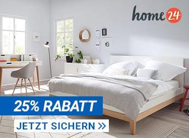 25% Extra-Rabatt bei home24