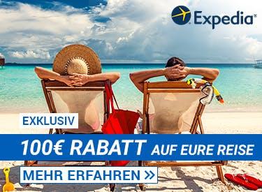 100€ Rabatt bei Expedia
