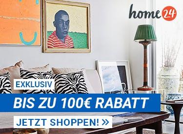 Bis zu 100€ Rabatt bei home24
