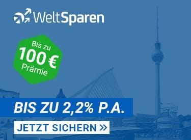Bis zu 100€ Prämie zum Tagesgeld