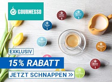 15% Rabatt bei Gourmesso