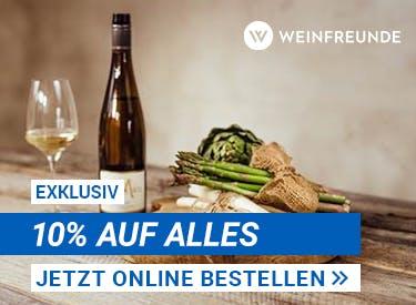 10% Rabatt bei Weinfreunde