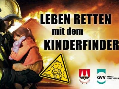 Gratis-Aufkleber: Sorgt mit dem Kinderfinder für Sicherheit im Brandfall