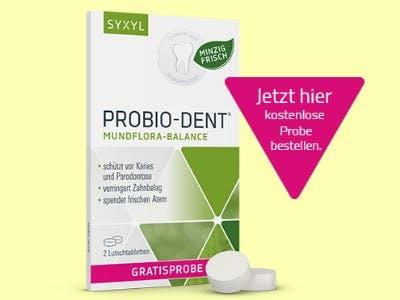 2 Lutschtabletten von ProBio-Dent für die Zahn- und Mundpflege gratis testen
