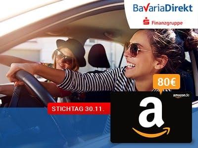 BavariaDirekt: KFZ-Versicherung wechseln und 80€ Amazon-Gutschein bekommen