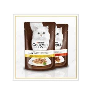 2 GOURMET-Futterproben für eure Katze gratis