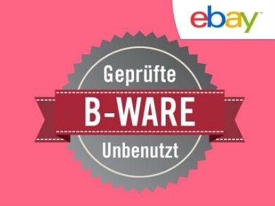 Bis zu 50% Rabatt gegenüber UVP: geprüfte B-Ware bei eBay