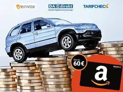 Kfz-Versicherungswechsel: bis zu 850€ sparen + Amazon.de-Gutscheine sichern