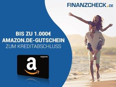 Wünsche erfüllen mit FINANZCHECK.de + bis zu 1.000€ Amazon.de-Gutschein