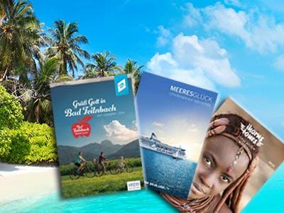 Urlaubskataloge und Reiseführer gratis bestellen!