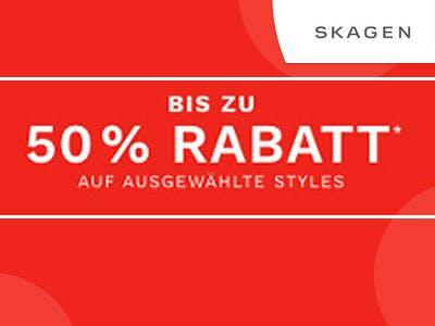 Bis zu 50% sparen im Sale bei Skagen