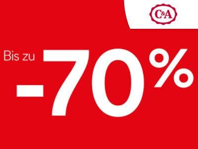 Sale bei C&A: Bis zu 70% sparen + kostenloser Versand
