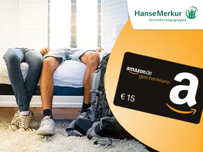 Fit & gesund in den Urlaub 2019 / HanseMerkur / 15€ Amazon-Gutschein zur Reiseversicherung Januar / Februar 2019