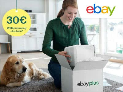 eBay Plus Mitglied werden und 30€ Willkommens-Gutschein bekommen