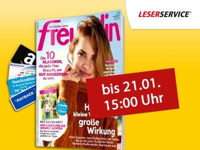 """Jahresabo """"Freundin"""" für nur 73€ + bis zu 75€ Prämie"""