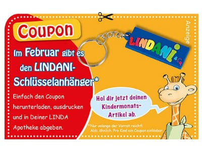 Gratis-Schlüsselanhänger in LINDA Apotheken erhalten