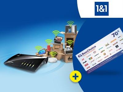 DSL-Tarif bei 1&1 abschließen und 70€-BestChoice-Gutschein sichern