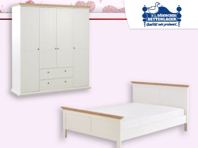 Bis zu 70% Rabatt auf ausgewählte Möbel beim Dänischen Bettenlager