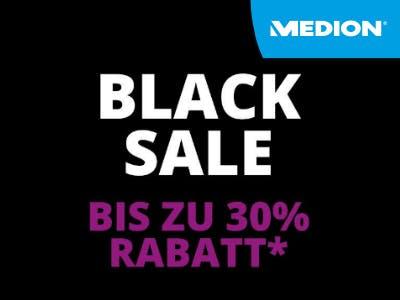 Black Sale bei Medion: bis zu 30% Rabatt auf ausgewählte Produkte