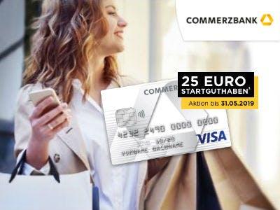Commerzbank Visa Prepaidkarte mit 25€ Startguthaben