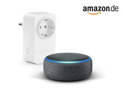 Nur 49,99€: Echot Dot (3. Gen.) + Amazon Smart Plug Steckdose