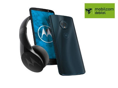 Motorola Moto G6 + Bluetooth-Kopfhörer für 129€ bei Mobilcom-Debitel