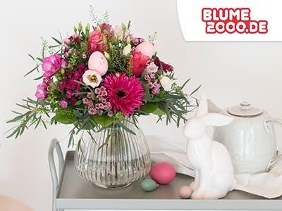 15% Rabatt auf blühende Ostergrüße von Blume2000.de