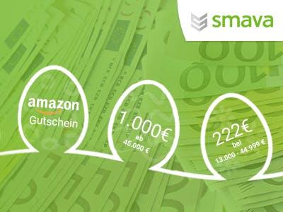 Zum Kredit dazu: bis zu 1.000€ Amazon.de-Gutschein von smava erhalten
