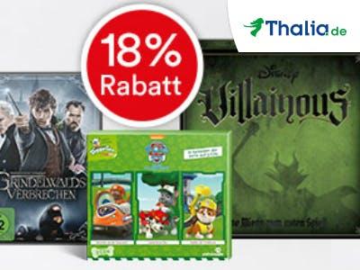 Nur diese Woche! 18% Rabatt für alle SPARWELT-Leser bei Thalia