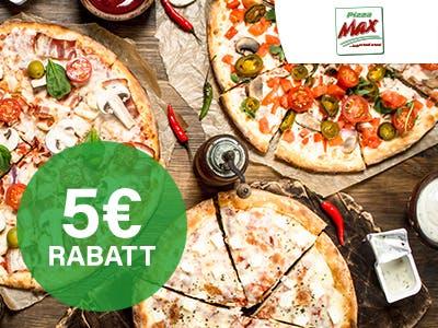 Das runde Glück für Zuhause: 5€ Rabatt auf deine Pizza-Max-Bestellung