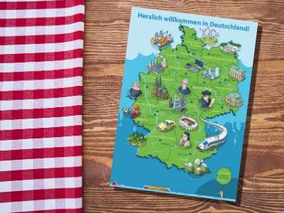 Deutschlandkarte für Kinder & Jugendliche gratis