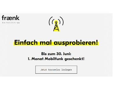 1 Monat Mobilfunk geschenkt + 10€ Cashback dazu