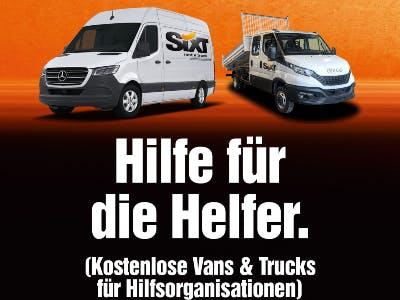 Kostenlose Vans & Trucks für Hilfsorganisationen und weitere Hilfsaktionen