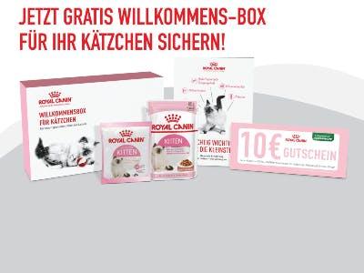 Gratis Willkommens-Box für Kätzchen