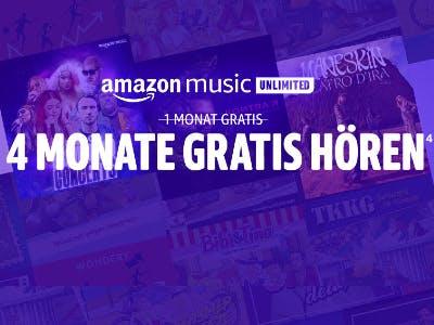 Amazon Music Unlimited für 4 Monate gratis testen